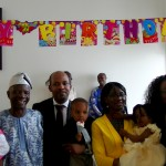 Ayomide & Ayobami with their dad and mum, and other church members(2)